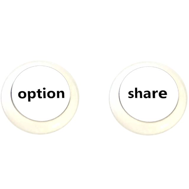2 boutons - Option, Share